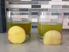 AM and PM vitamins by Jeunesse. They passed the vitamin test! The apples were soaking for 24 hours and still look great.