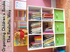 How to organize your children's book (especially religious books) in a way that works for real families.
