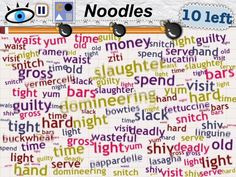 What Word Mess looks like if I turn off blending on the words