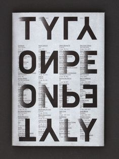 Type Only. Unit Editions. Cover. Featured on Typographie. http://uniteditions.com/shop/type-only #TypeOnly