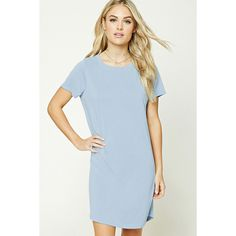 Forever21 Contemporary T-Shirt Dress (840 DOP) ❤ liked on Polyvore  featuring dresses fb13f5b64408