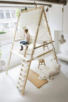 Get creative: Cool designs and ideas for your home - Latest .- Werde kreativ: Coole Designs und Ideen für Zuhause – Neueste Dekor Get creative: cool designs and ideas for your home # Office space - Kids Indoor Playground, Home Office Space, Kids Room Design, Playroom Design, Dream Rooms, Kid Spaces, Play Houses, Cubby Houses, Girls Bedroom