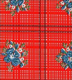 Pictures of Bouquet Orange Oilcloth