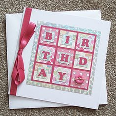 "Cute! I would surround the square with stamped ""happy's""..."