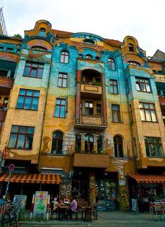 Find the most beautifully, colorful buildings in Kreuzberg, Berlin. Kreuzberg! My favourite!