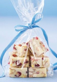 Fudge – Cranberries and orange zest add unexpected flavor to this tasty  chocolate fudge.