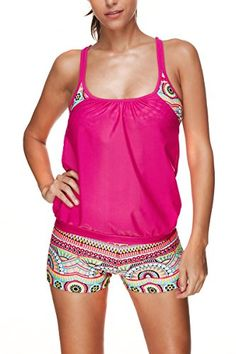 2017 New Two Pieces Tankini Plus Size Bikini Set Crop Top Swimwear Women  Floral Swimsuit Mesh Bathing Suit Push Up Swimming Suit 0db31feee73f
