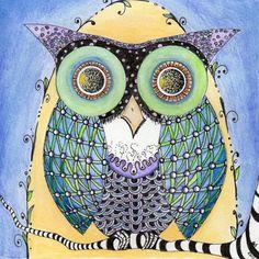 'Zentangle Owl' by Gabriele Schneider