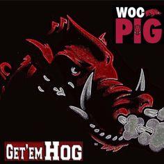 Woo Pig Ar Razorbacks, Arkansas Razorbacks Football, Woo Pig Sooie, University Of Arkansas, Shawnee, Auction Items, Sports Logo, Football Season, College Football