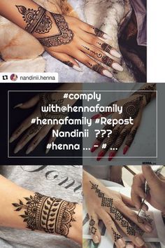 #comply with@hennafamily #hennafamily #Repost Nandinii  ・・・ #henna ... - #followhennafamily #Henna #hennafamily #Nandinii #Repost #Vaishuhenna Henna Patterns, Hand Henna, Hand Tattoos, Thats Not My
