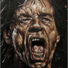 Jagger.... 140x110x2 cm oil on board