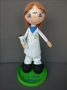 Hoy se asoma a esta ventanita de facebook esta fofucha personalizada de química que nos encargó Pili #fofuchaspersonalizadas #fofucahsbarcelona #fofuchas