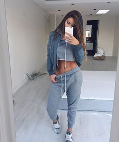 """It was just Friday like 5 minutes ago — (: Don't Sweat it Sweatsuit) #ootd #sosorella #gray"""