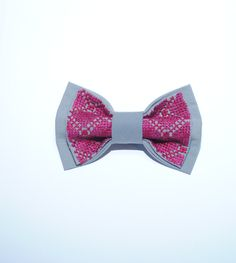 Gray EMBROIDERED bowtie Purple Burgundy pattern Can be made by order with Marsala Vinous Vivid burgundy Vivid purple pattern Wedding bowties by accessories482 on Etsy