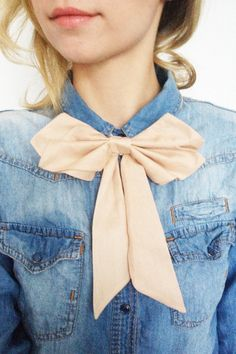 Womens Bow Tie in light Rosé made of silk blend by PollyMcGeary, €28.00