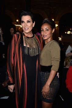 Kris Jenner Photos: Balmain : Front Row - Paris Fashion Week Womenswear Spring/Summer 2016