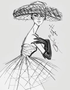 #Hayden Williams Fashion Illustrations: Quick sketch #Vintage Inspired
