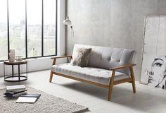 SalesFever Schlafsofa im Scandinavian Design, mit verstellbarer Rückenlehne »Lien«