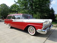 """""""The world's most beautifully proportioned cars!"""" """"These new Fairlanes are remarkably low in price! 1957 Chevrolet, Chevrolet Corvette, 1950s Car, Ford Ltd, Shooting Brake, American Classic Cars, Ford Fairlane, Car Ford, Ford Motor Company"""