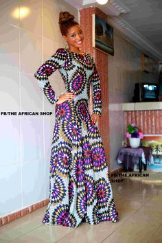 Crystal Gown by THEAFRICANSHOP on Etsy, £130.00 - I like this style, but in a different print. ~ Amb