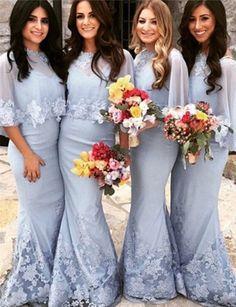 mermaid bridesmaid dresses, long bridesmaid dresses, light blue bridesmaid dresses, half sleeves bridesmaid dresses, bridesmaid dress with appliques 2 Piece Bridesmaid Dress, Light Blue Bridesmaid Dresses, Mermaid Bridesmaid Dresses, Lace Bridesmaid Dresses, Mermaid Dresses, Lace Mermaid, Prom Dresses, Lavender Bridesmaid, Dresses Uk
