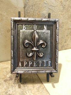 French+Bon+Appetit+Fleur+De+Lis+Kitchen+by+Georgiegirlstudios,+$16.99