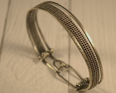 Pulsera trenzada en plata silver-filled, brazalete trenzado, pulsera de plata oxidada, hecho a mano, regalo para ella