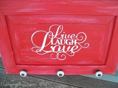 DIY: Trash to Treasure- Old Cabinet Door Live Laugh Love (Easy To Make Sign)!!