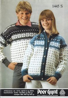 Pellestova 1445 S Norwegian Knitting, Jumper, Men Sweater, Old Magazines, Color Combinations, Knitting Patterns, Sweaters, Craft Ideas, Colour
