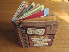 Repurpose old board books into scrapbooks albums