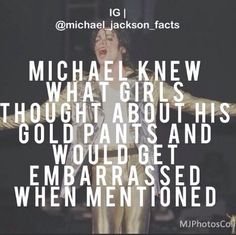 OMG! Really?! I never knew this! I'm a girl and think the same thing about his gold pants! ;) He would get embarrassed. Aww haha