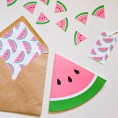 watermelon_party invites.