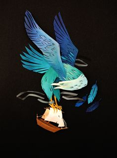 """""""New Mythical Cut Paper Collages by Artist Morgana Wallace.""""  ** For more Stunning collages click on this pin"""