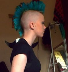 turquoise mohawk