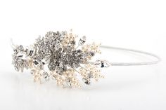Pearl & Crystal Side Tiara – Richard Designs