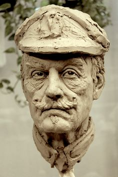 general life size study Sculpture Head, Human Sculpture, Anatomy Sculpture, Traditional Sculptures, 3d Figures, Clay Art, Ceramic Art, Sculpting, Illustration Art