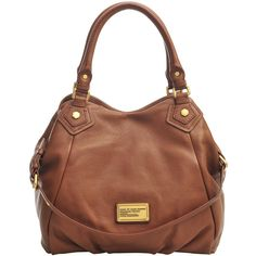 Marc By Marc Jacobs Fran Classic Q bag (1.085 BRL) ❤ liked on Polyvore featuring bags, handbags, purses, accessories, bolsas, man bag, leather man bag, brown leather handbag, brown handbags and handbags purses