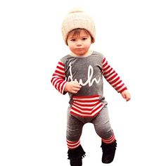Babys Clothes Mchoice Newborn Infant Kids Boys Girls Print Romper Jumpsuit Bodysuit Outfit Clothes 612 Months Red >>> To view further for this item, visit the image link.Note:It is affiliate link to Amazon.
