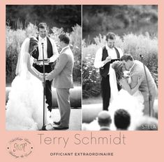 Terry Schmidt from Nithridge Estate is the perfect wedding officiant for your big day! Wedding Officiant, Schmidt, Big Day, Perfect Wedding, Wedding Events, Tours, Movie Posters, Marriage Celebrant, Film Poster