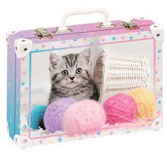 Školní kufřík velký - 35x25x11cm č. 21737 HK Velký Koťátka hraje s klubíčko Suitcase, Briefcase