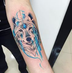 cool 85 Meaningful Wolf Tattoo Ideas - Best Way to Define Your Personality and Attitude Check more at http://stylemann.com/best-wolf-tattoo-ideas/
