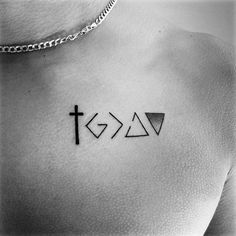 Mens Cool God Is Greater Than The Highs And Lows Tattoo Ideas Upper Chest