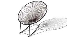 3d Model Of Fauteuil A Bascule Copacabana Noir Maisons Du Monde Ref 129 772 Prix 89 Chair Saucer Chairs Armchair