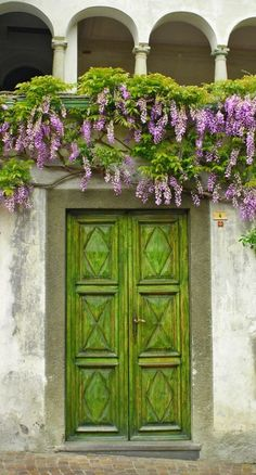 What a great idea to match the color of the door to the foliage. ~js Germagno, Verbano-Cusio-Ossola, Italy
