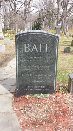 Lucille Ball Memorial Headstone, Lakeview Cemetery, Jamestown, New York