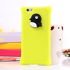 Funda Trasera - Animal - para iPhone 6 ( NegroAmarillo , Silicona )