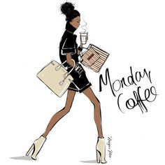 She shopped at Bendel's in New York. She was dripping in cool, even in her walk. She's my Monday Coffee Girl!