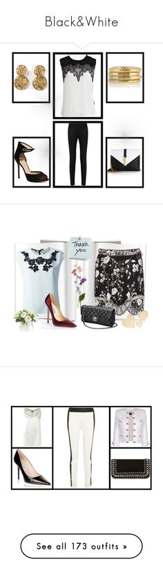 """""""Black&White"""" by miriam83 ❤ liked on Polyvore featuring NDI, Polaroid, Chanel, Chloé, Pier 1 Imports, Victoria Beckham, Ethan Allen, Swarovski, Universal and Glo Minerals"""