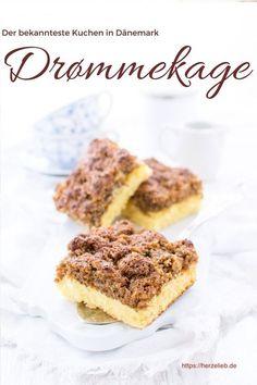 Kuchen Rezepte, dänische Rezepte: Den Drømmekage kennt in Dänemark jedes Kind. Einfach, leicht und schnell zu backen. #kuchen #dänemark #rezept #herzelieb #deutsch