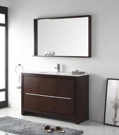 48 Tennant Brand Viara Modern Style Vanity Bathroom Sink Vanity In Espresso Finish Cl10 We48 Zi Modern Style Bathroom Vanity Bathroom Vanity